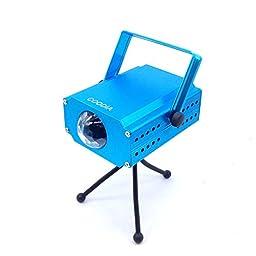 EKOSTORE 3-Watt Led Stage Light Blue Water Wave Effect Rapple Projector Lighting