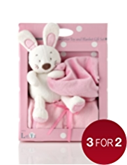 Rabbit Comforter Toy & Blanket Gift Set