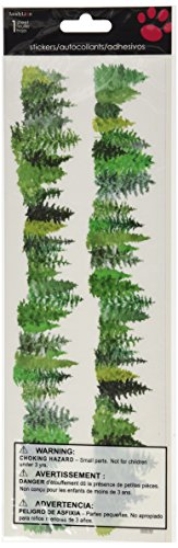 Sandylion Horizon Border Stickers, Evergreen Trees - 1