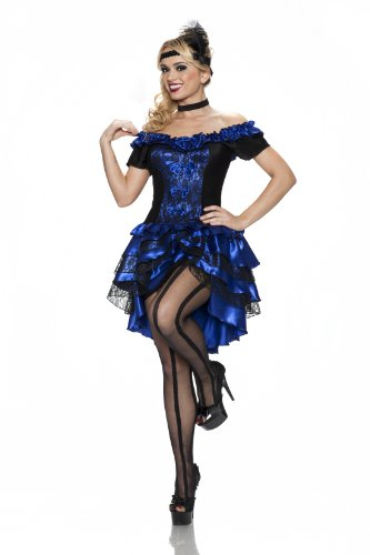 Delicious Plus-Size Dance Hall Queen Costume, Sapphire, 1X/2X (Wild West Saloon Girl Costume)