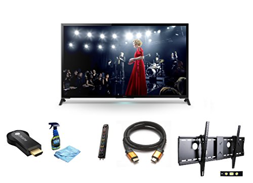 "Sony Xbr65X950B 65-Inch 4K Ultra Hd 120Hz 3D Led Tv + Google Chromecast Hdmi Streaming Media Player + 3M High Speed Orange Gold Hdmi Cable For 2160P, 3D, And 4K + Focus 32""-70"" Tv Bracket Mount With 165 Lbs Capacity + Monster Surge Protector With 7 Ac Out"