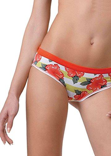 Jadea Stripe & Floral Print Cotton Low-Rise Bikini -3-Pack