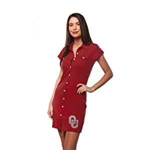 Oklahoma Sooners Chicka-d Ladies Crimson Shirtdress by Chicka-D LLC