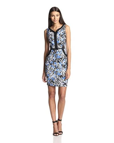 London Times Women's Printed Sheath with Pockets