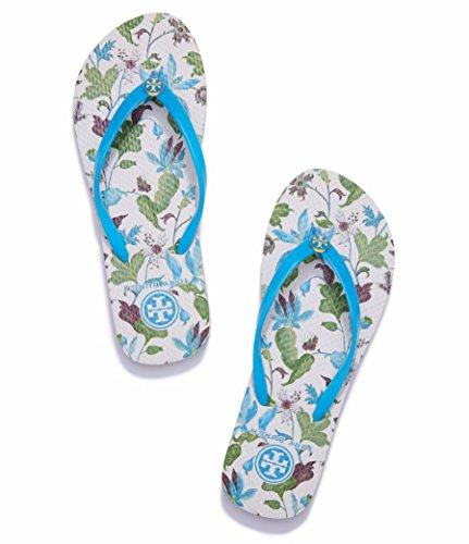 Tory Burch Thin Flip Flops Blue Lark Wisteria Size 7