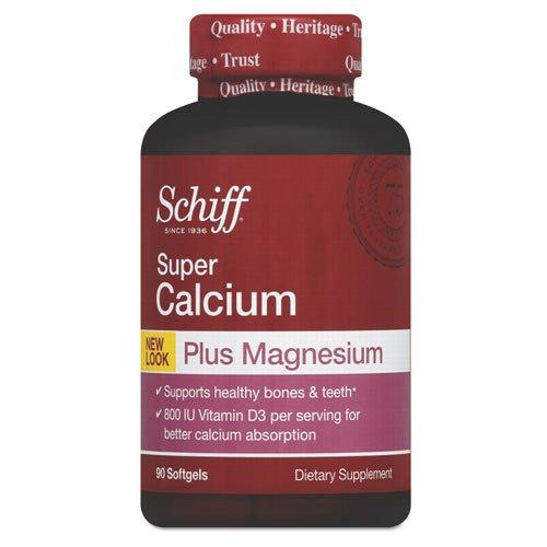Schiff Super Calcium Plus Magnesium With Vitamin D Softgel, 90 Count