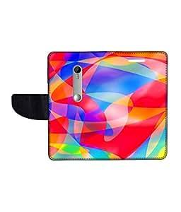 KolorEdge Printed Flip Cover For Motorola Moto G Turbo Edition Multicolor - (1478-50KeMLogo12350MotoGTurboEdit)