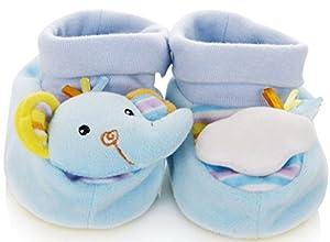 Dehang - Zapatos Sonajero Zapatillas Calcetines Animales Infantiles con Sonidos para Bebés recién nacidos Niños niñas - Elefante León Jirafa - BebeHogar.com