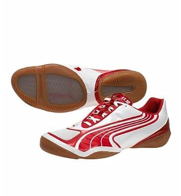Puma v1.10 Sala Soccer Shoes (White/Red) (7)