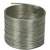 "HomeBrewStuff Stainless Steel Tubing Coil - 3/8"" x 50' - DIY Chiller, HERMS, or Moonshine Snake"