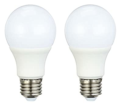 AmazonBasics LED Bulb E27, 9.5W to 60W, 806 lumen - Pack of 2