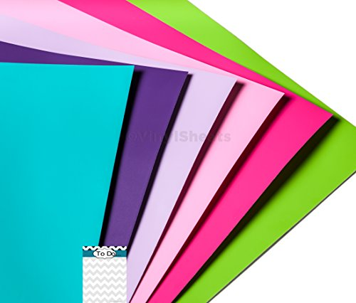 B2M601 Matte Removable Vinyl Sheets 12 X 24 Inches - Girls 12 Pack Adhesive Backed Vinyl for Personal Craft Sign Cutters Wall Decals Vinyl Lettering (Vinyl Cutters 24 In compare prices)