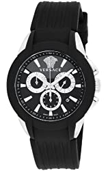 [Versace] VERSACE watch character Chronograph Black Dial Stainless Steel (YGPVD) case M8C99D008S009 Men's parallel import goods]
