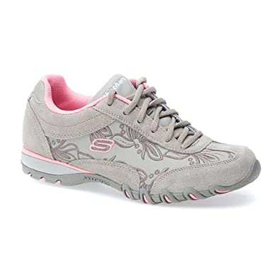 Skechers Fashion Trainer with Embroidered Florals 300 339 - Natural Size 9 UK
