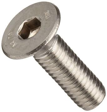 Stainless Steel 18-8 Socket Cap Screw, Vented Flat Head, Hex Socket Drive (Metric)