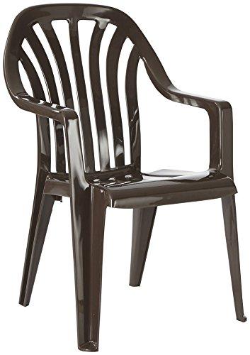 BEST Gartensessel »4 Stück« 4 Stühle, braun