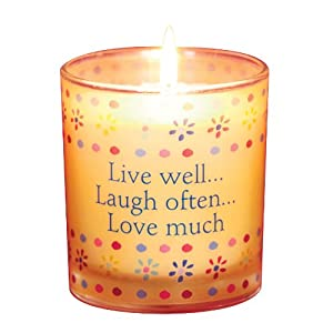 Deco Glow Scentaments Candle, Live Well