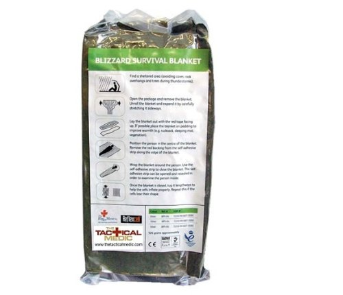 OD Green//Silver Blizzard Emergency Survival Blanket BPS-01