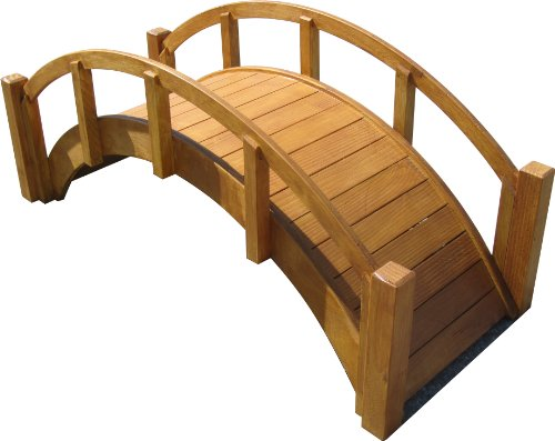 SamsGazebos Miniature Japanese Wood Garden Bridge, 29