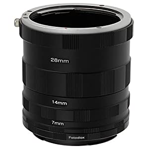 Fotodiox Canon EOS Macro Extension Tube Set Kit for Extreme Close-up