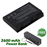 Battpit⢠Laptop / Notebook Battery Replacement for Acer Aspire 5611AWLMi (4400mAh / 49Wh) with FREE 2600mAh Power Bank / External Battery (Black) for Smartphone.