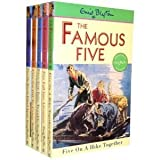 Enid Blyton Enid Blyton Famous Five Collection 5 Books Set (6 To10) New RRP: £ 24.95, Five On Kirrin Island Again, Five Go Off to Camp Five Get Into Trouble,Five Fall Into Adventure,Five On A Hike Together, (Famous Five)
