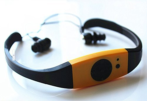 E-PLAZA 4GB nuoto immersion acqua IPX8 impermeabile lettore mp3 FM Radio auricolare - Giallo