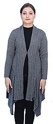 Romano Women's Classic Long Black Winter Sweater Cardigan Shrug