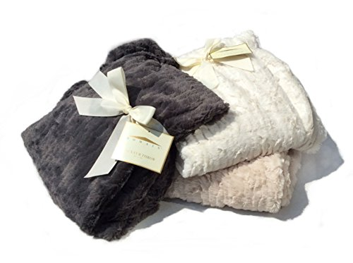 "Domain Faux Fur Throw Blanket Oversized 50 x 70"" - 1"