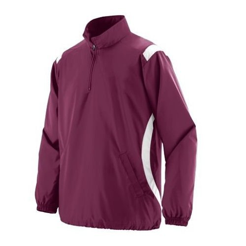 Augusta Drop Ship All-Conference Pullover - MAROON/WHITE - S augusta drop ship all conference pullover maroon white s