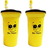 Stop Here Multipurpose Sipper Water Bottle With Straw 500 Ml ( For Kids, Sports, Daily Use ) Combo Of 2