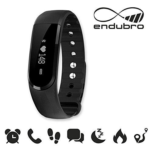 endubro ID101 fitness bracelet - fitness tracker - smart bracelet - SmartWatch for Android Smartphone and iPhone, pedometer, push message and caller - ID Alert, music contrrol remote camera