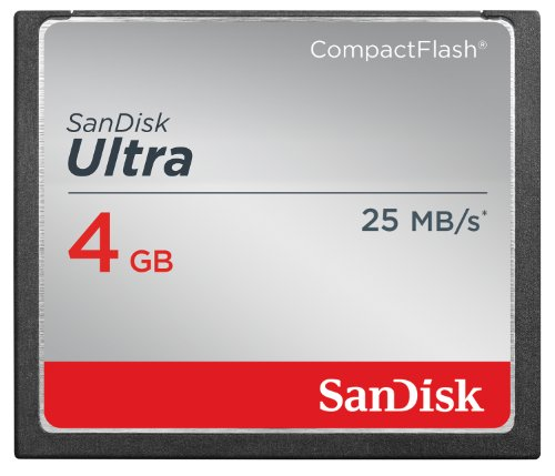 SanDisk Ultra 4GB Compact Flash Memory Card Speed Up To 25MB/s, Frustration-Free Packaging- SDCFHS-004G-AFFP  (Label May Change)