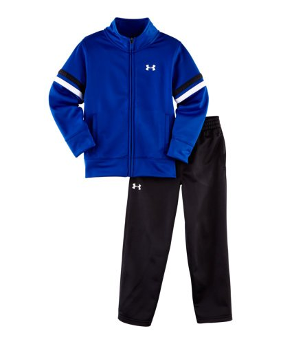 Under Armour Baby-Boys Infant Tricot Warm Up Set, Royal Blue/White, 18 Months front-158121