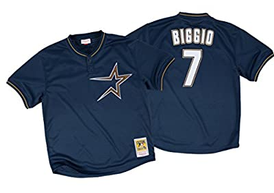 Craig Biggio 1997 Houston Astros Mitchell & Ness Authentic Mesh BP Jersey