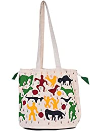 Bhawani's Cotton 14 Cm Multi-Coloured Reusable Shopper Bag