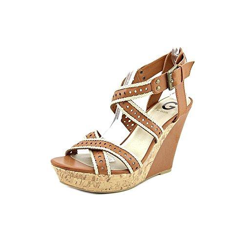 G By Guess Bethia Donna US 10 Marrone Sandalo con la Zeppa