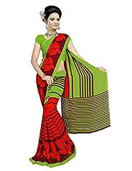 Designer Sari Pleasing Printed Casual Wear Faux Georgette Saree By Triveni