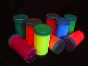 set 8 x 50 ml schwarzlicht farbe neon fluoreszierende uv leuchtfarbe glow. Black Bedroom Furniture Sets. Home Design Ideas