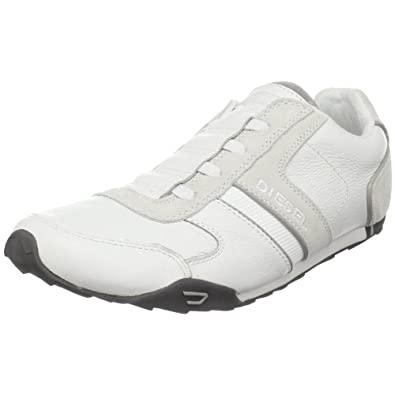Diesel Men's Loop-on White Slip On Y00055PR131T1003 9 UK ...