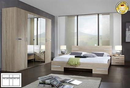 Schlafzimmer 355658 komplett 4-teilig struktureiche hell