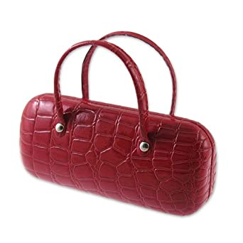 AS12TG Croco Handbag Eyeglass Case (Red)