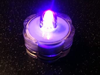 HLS 12 x Submersible LED Floralyte Light in Purple + 24 packs of CLEAR water beads.