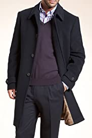 Collezione Luxury Italian Wool Coat with Cashmere [T16-9140C-S]