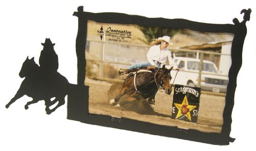 Barrel Race 5X7 Horizontal Picture Frame (b) (Rodeo Pictures compare prices)