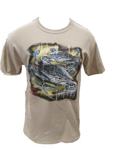 American Blue Crab T-Shirt (Medium, Sand)