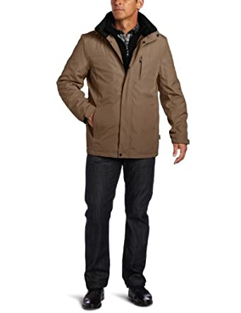 Calvin Klein Men's Poly Bonded Jacket, Truffle, Large
