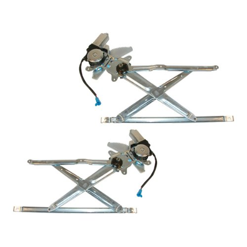 1998-2003 Toyota Sienna Van Front Electric Power Window Regulators With Motors Pair Set Left Driver And Right Passenger Side (1998 98 1999 99 2000 00 2001 01 2002 02 2003 03)
