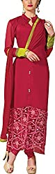K.K BROTHERS Women's Georgette Dress Material (Red)