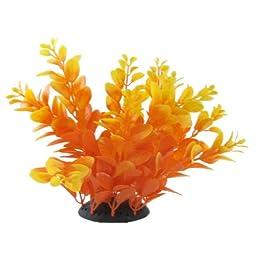 Jardin Plastic Aquascaping Plant Grass for Aquarium, 6.9-Inch, Orange/Red